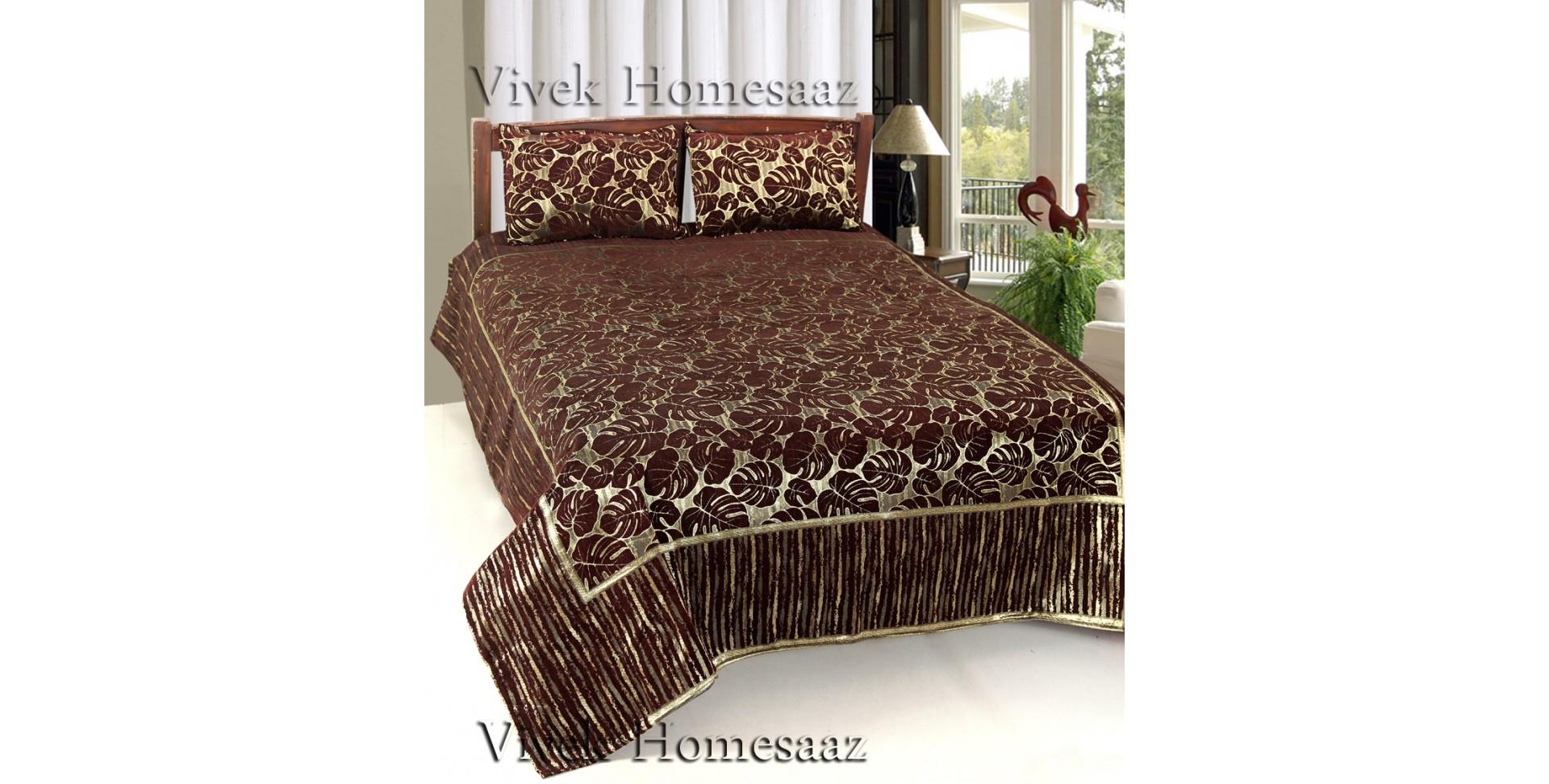 Bed Cover By Vivek Homesaaz Brown Harvest Luxury Quality